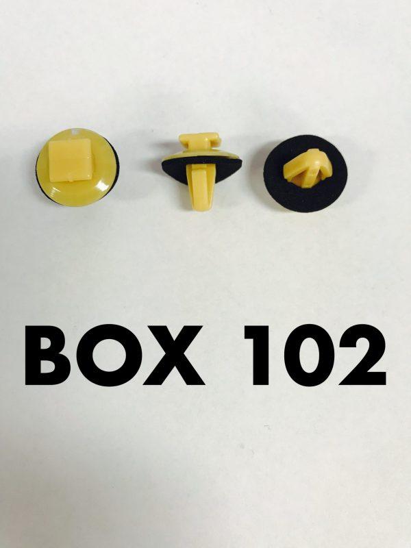 Carclips Box 102 10356 Door Mould Clip