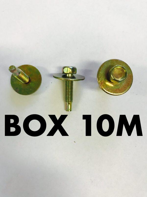 Carclips Box 10M M5 Bolt Gold
