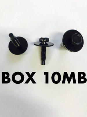 Carclips Box 10MB M5 Bolt Black