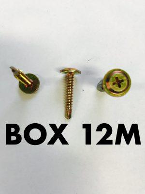 Carclips Box 12M 8G x 25mm Screw