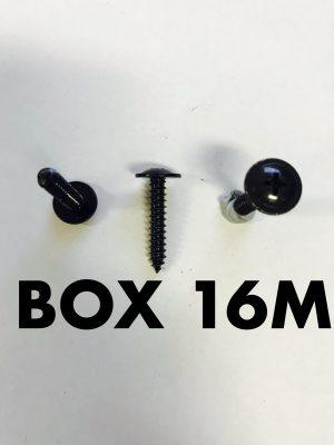 Carclips Box 16M 10g x 25mm Screws Black