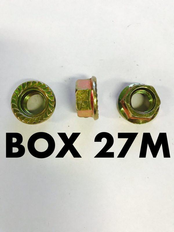 Carclips Box 27M M10 Brass Nut