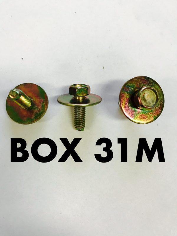 Carclips Box 31M M5 x 25mm Bolt