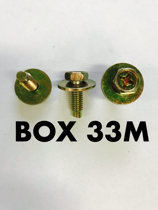Carclips Box 33M M6 x 20mm Bolt