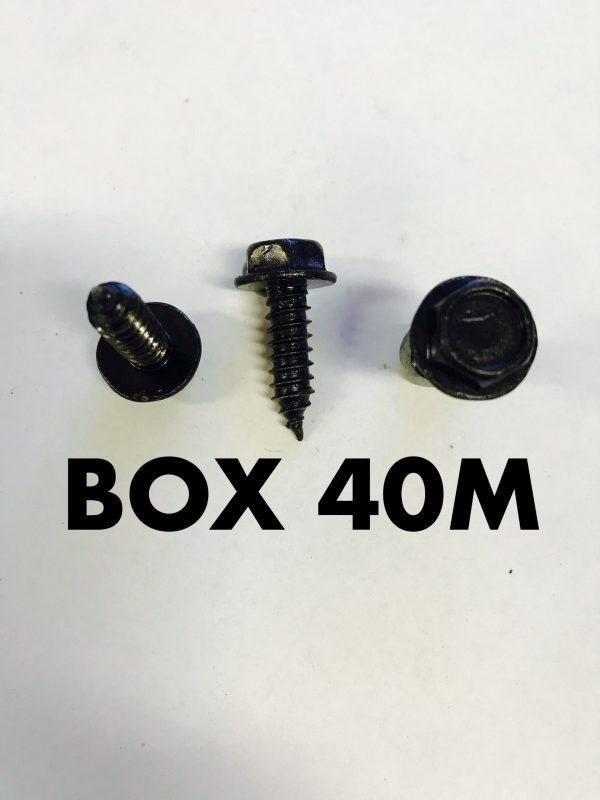 Carclips Box 40M M6 x 3/4 Black Screws