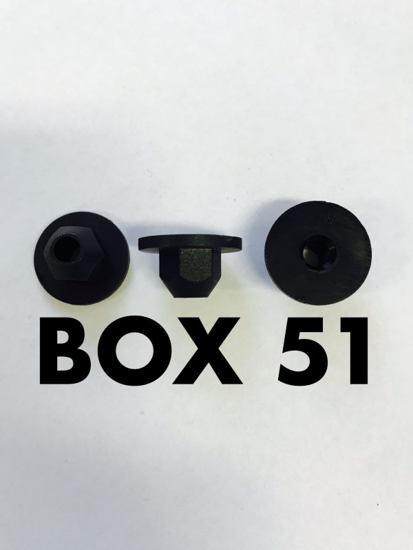 Carclips Box 51 10933 NylonFlange Nut