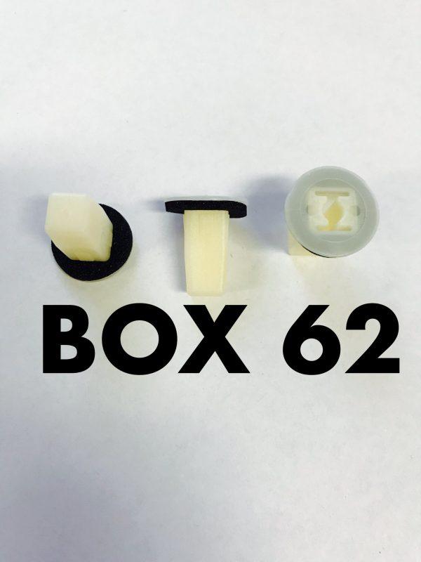 Carclips Box 62 10075 Screw Grommet