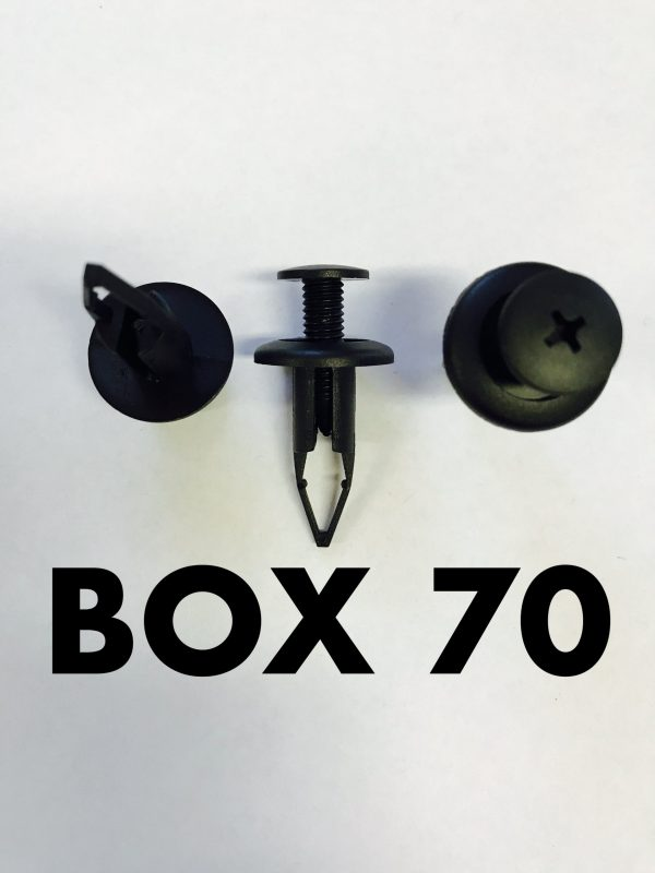 Carclips Box 70 10666 Push Type Retainer