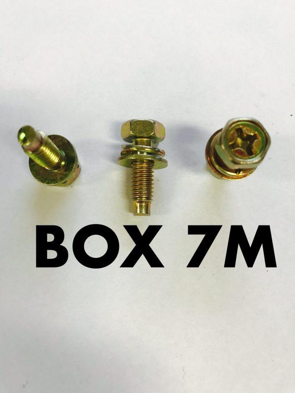 Carclips Box 7M M6 Bolt 18mm Gold