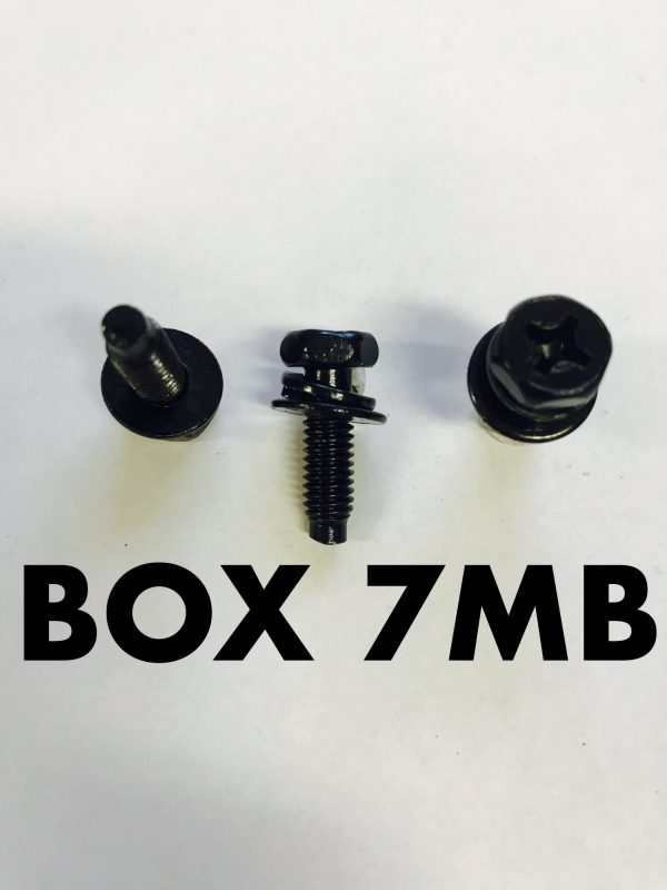 Carclips Box 7MB M6 Bolt 18mm Black