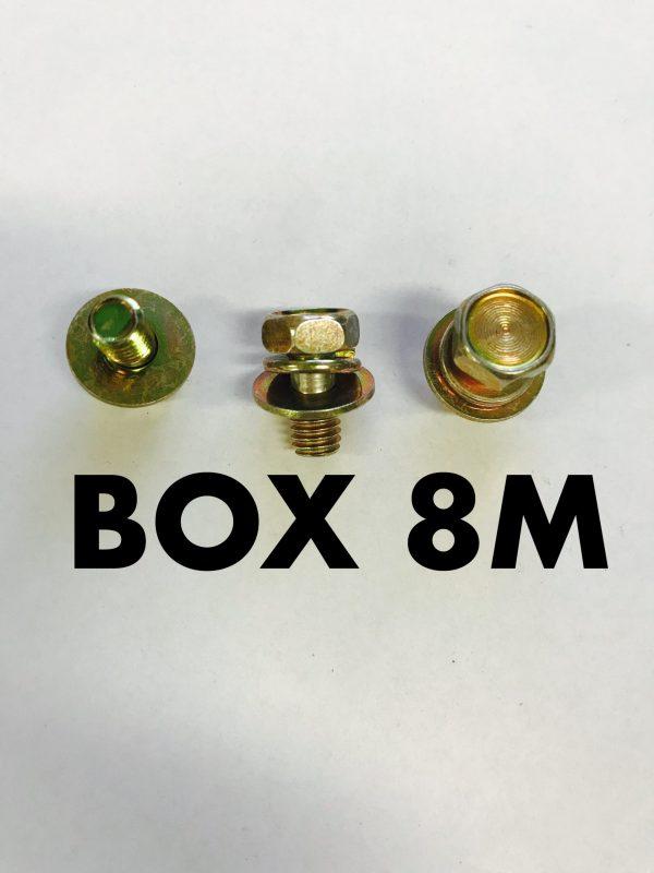 Carclips Box 8M M6x12mm Bolt Gold