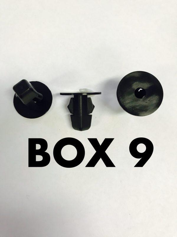 Carclips Box 9 10230 Screw Grommet