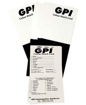 COLOUR MATCHING CARDS GPI (PKT 200)