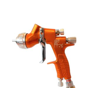 DEVILBISS GTI PRO LITE SPRAY GUN & 2 FLUID TIPS