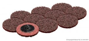 50MM MAROON ABRASIVE DISC (PKT 10)