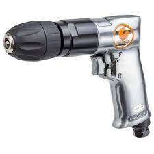 GEIGER 3/8 REVERSIBLE AIR DRILL WITH KEYLESS CHUCK
